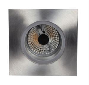 PSM LIGHTING - FLUX INBOUWSPOT - VIERKANT - VAST - MET HELDER GLAS INOX