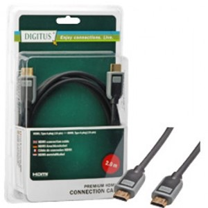 LOGON - HDMI CABEL MALE/MALE - 2M TYPE A (19P) HIGH QUALITY