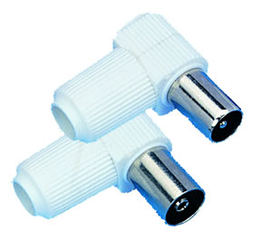 Elimex - 37271 & 37272 Right angle coaxial plug and jack