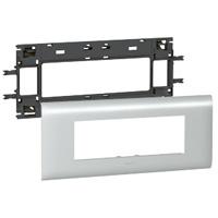 Legrand - Mosaic houder aluminium - drievoudig - 6 modules voor wandgoot DLP aluminium met deksel 85 mm