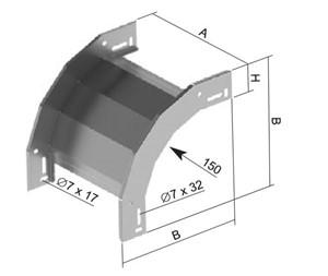 GSV - DAALSTUK 90° 60 MM X 100 MM