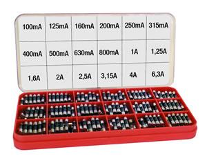 Elimex - FUSE BOX Fuses 20x5mm, 18 values x 20pcs