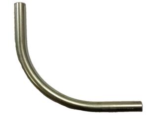 GSV - METALEN BOCHT 90° , ZONDER SCHROEFDRAAD M20