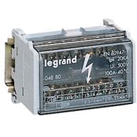 Legrand - Modulaire verdeelklem 2p 40A 13 klemmen - 20 kA - 6 mod.