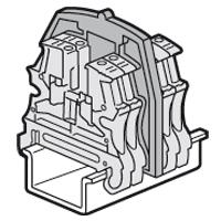 Legrand - Scheidingsplaten schroefklem. 1 ing./1 uitg. sp. 12/15 mm