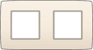 Niko, tweevoudige afdekplaat, Original Cream, 71 mm centerafstand
