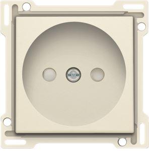 Niko Original Cream, afwerking voor stopcontact zonder aarding met kinderveiligheid, inbouwdiepte 21 mm