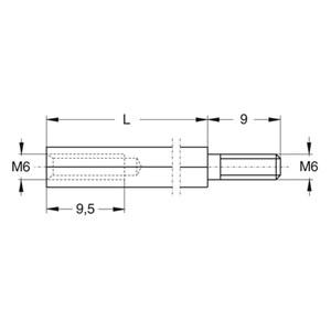 ABB Vynckier - OPHOOGSTUT SLEUTELBREEDTE 9 H=100MM