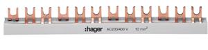HAGER - Overbruggingsbaar 3P 63A met vorken 10mm² 57M