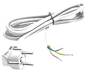 Elimex - BB-6721 Cordset white 3m
