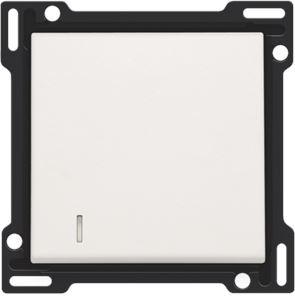 Set de finition avec voyant pour interrupteur ou bouton-poussoir simple, white