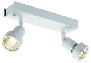 SLV LIGHTING - Puri 2, wand/plafondlamp, GU10 2x50W 230V, wit