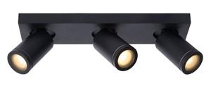 Lucide - TAYLOR Plafondspot 3x Gu10/12W DTW noir IP44