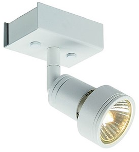 SLV LIGHTING - Puri 1, wand/plafondlamp, GU10 50W 230V, wit