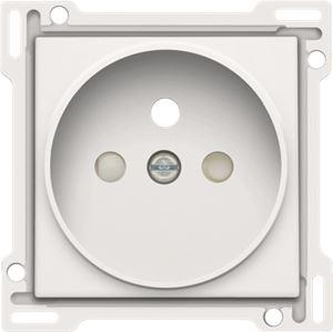 Niko Original White, afwerking voor stopcontact met penaarde en kinderveiligheid, inbouwdiepte 21 mm