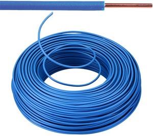 VOB kabel / draad 6 mm² - blauw (H07V-U) - VOB6BL