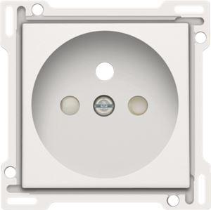 Niko Original White, afwerking voor stopcontact met penaarde en kinderveiligheid, inbouwdiepte 28,5 mm