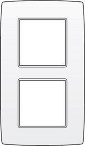 Niko, tweevoudige afdekplaat, Original White, 60 mm centerafstand