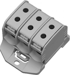 Leipold - Aansluitklem RKA 3p 50mm² Cu+Al grijs