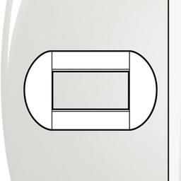 Bticino - LL-Ovale afdekpl. 4 mod wit