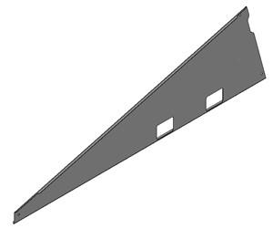 VAN DER VALK - Panneau latéral gal. ValkPro+ L15° (gauche)