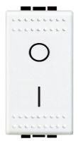 Bticino Living Light, tweepolige schakelaar 16AX 250V, 1 module(s), wit