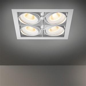 MODULAR - MULTIPLE FOR 4X LED GE ALU - BLACK