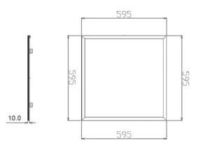 UNI-BRIGHT - LED PANEEL VOOR WAND / PLAFOND 600 X 600 X 10MM 24VDC 42W CR