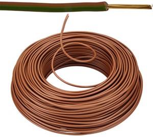 VOB kabel / draad 2,5 mm² Eca - bruin ( H07V-U ) - VOB2BR