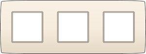 Niko, Drievoudige afdekplaat, Original Cream, 71mm centerafstand
