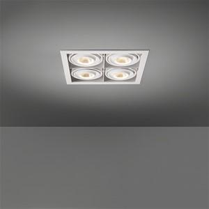 MODULAR - MINI MULTIPLE FOR 4X LED GE WHITE STRUC