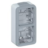 Legrand - Plexo opbouwdoos 2 mech.v Ingang kabelinvoer grijs