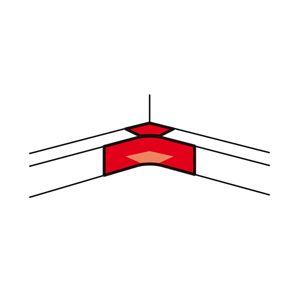 Legrand - Binnenhoek 65x150mm alu deksel 2x65mm