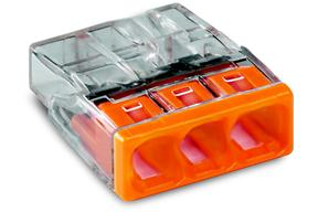 WAGO - 3 x 0,5-2,5mm² Transparant Oranje