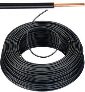 VOB kabel / draad 6 mm² - zwart (H07V-U) - VOB6ZW