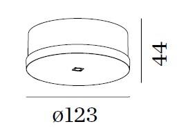 Wever & Ducré - Plafondbasis rond voor 1 tot 8 pendels